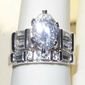 NWT ring wedding engagement set swarovski